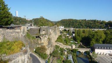 Casemates du Bock vistas de fora Luxemburgo