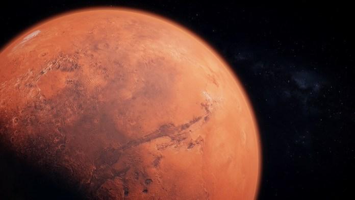 Presença de água em Marte?