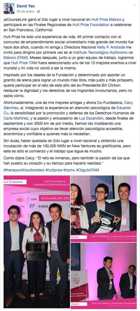 finalista Hult Prize México 2017