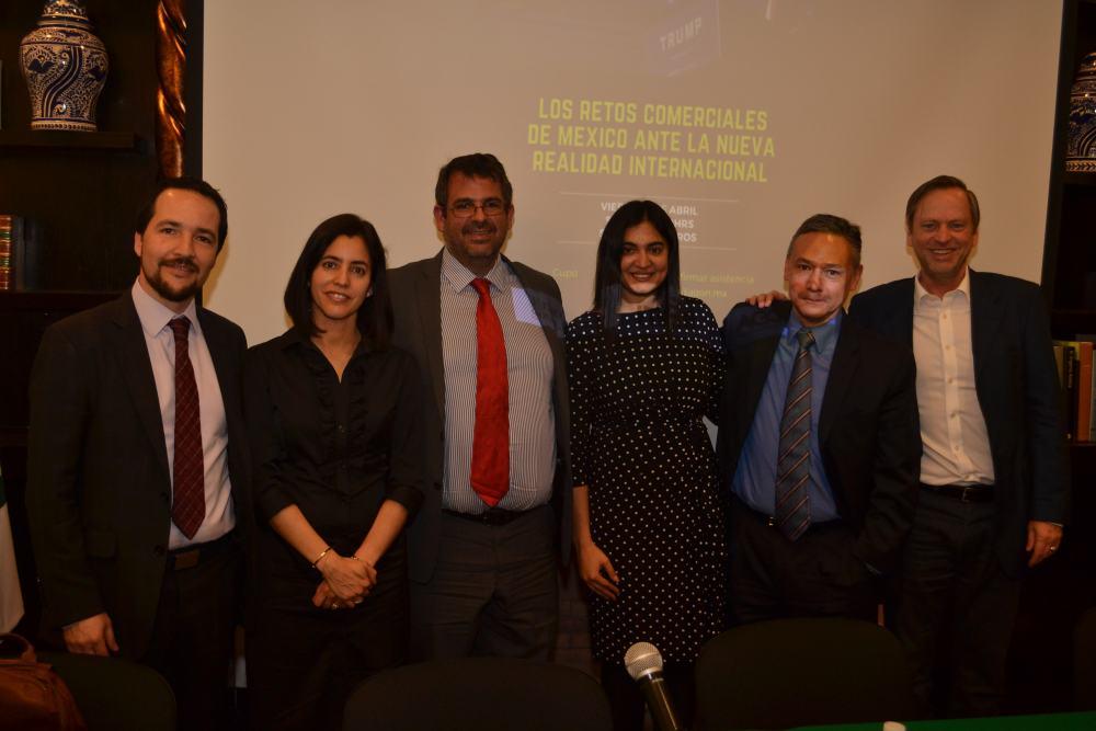 Álvaro Santos, Gabriela Rodriguez, Mateo Diego-Fernández, Amrita Bajri, Jorge Miranda y Bradley J. Condon. FOTO: ITAM