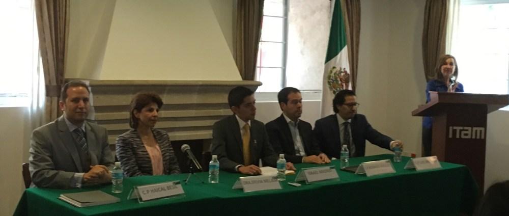 Ana María Bernardette Díaz introduciendo el panel