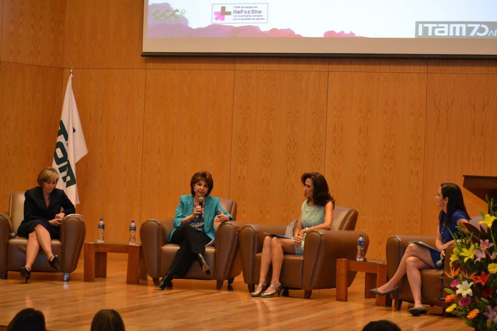 Marisol Vázquez Mellado, Rosalina Tornel, Claudia Herrera Moro, Sylvia Meljem. FOTO: ITAM