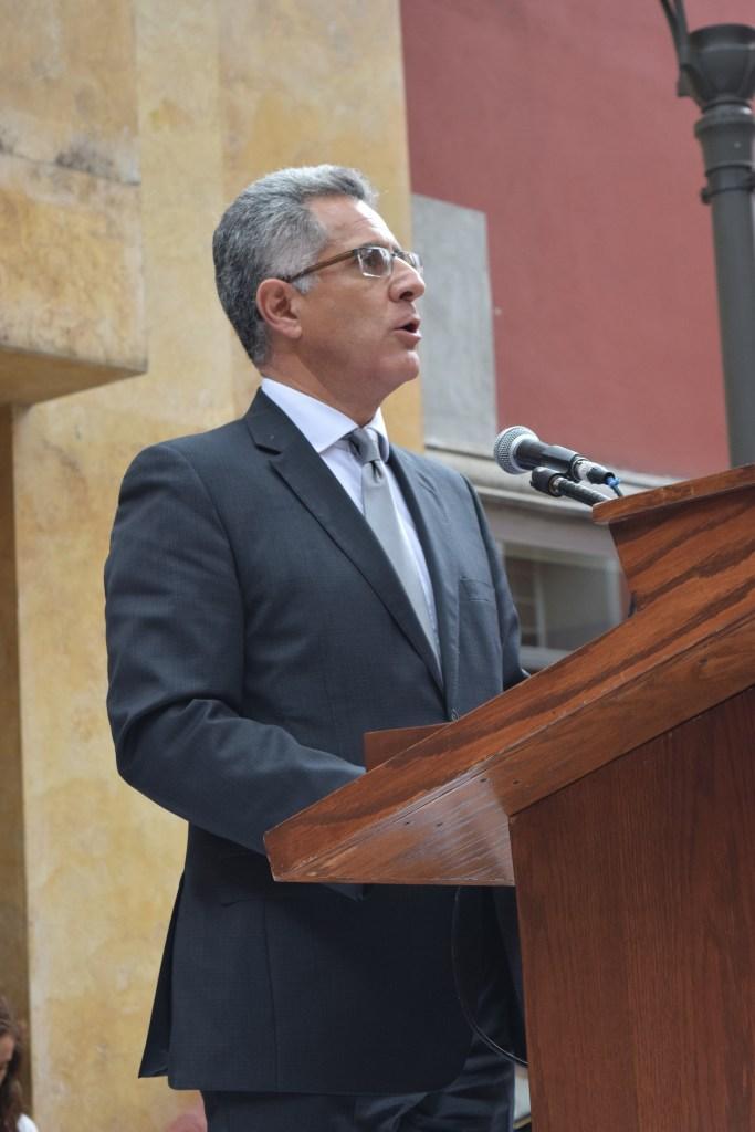 Dr. Alejandro Hernández en la Ceremonia Fuerza México. FOTO: ITAM