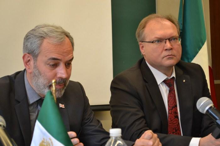 Zurab Eristavi, Emb. de Georgia en México y Ruslan Spityn, Emb. de Ucrania en México