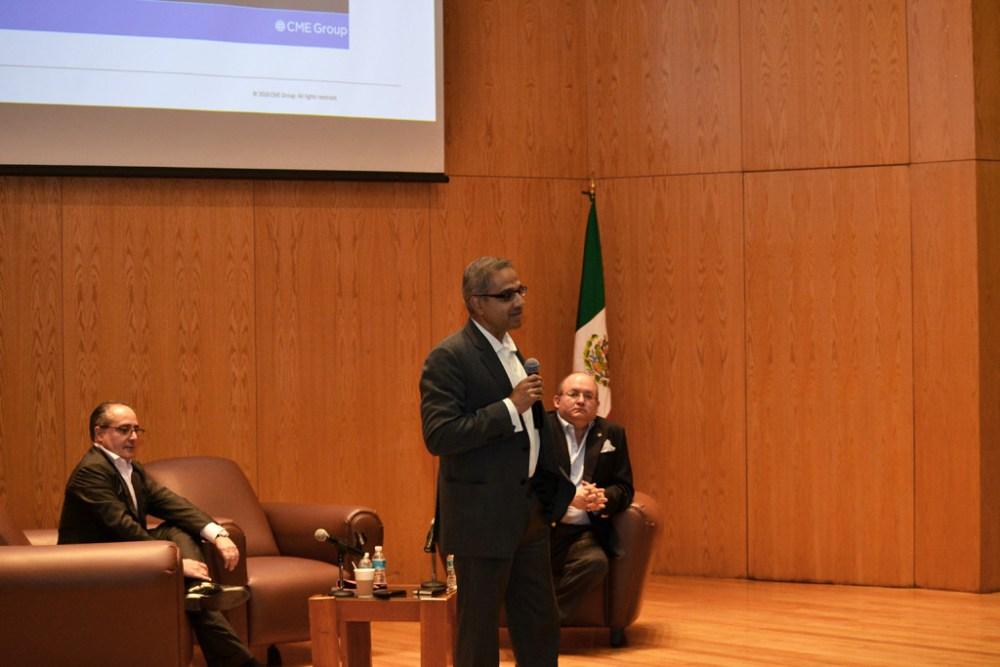 Sunil Cuthino, Presidente de CME Group, habló en el ITAM sobre la administración de riesgos. Foto ITAM.