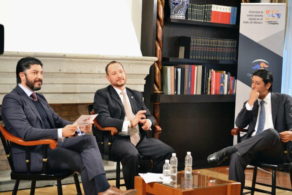César Astudillo, Dr. Horacio Vives y Dr. Christopher Ballinas. FOTO: ITAM