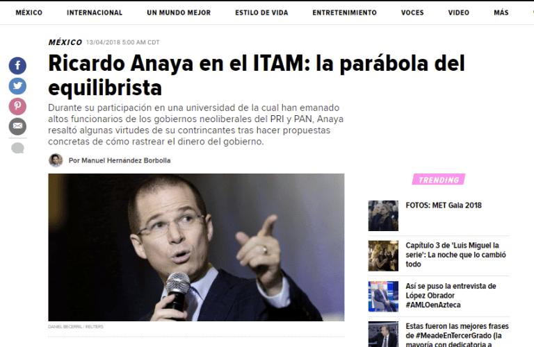 Ricardo Anaya en el ITAM