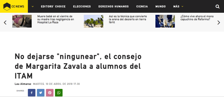 Margarita Zavala ITAM 10 abril 2018