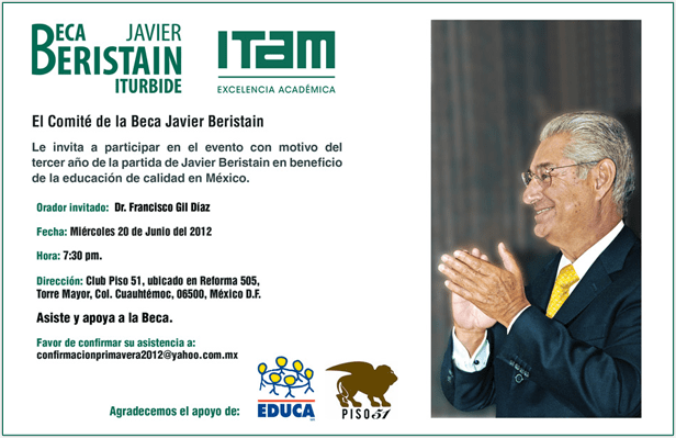 Compromiso ITAM: la beca Javier Beristain