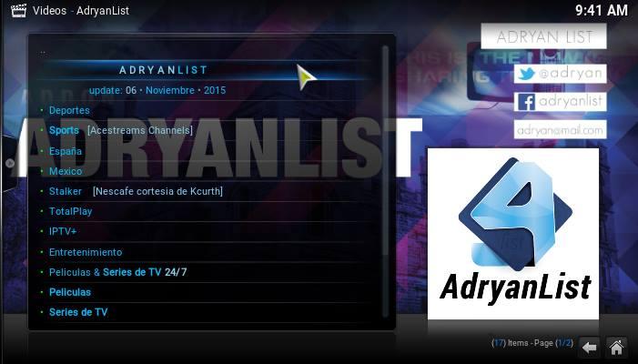 adryanlist addon mundo kodi