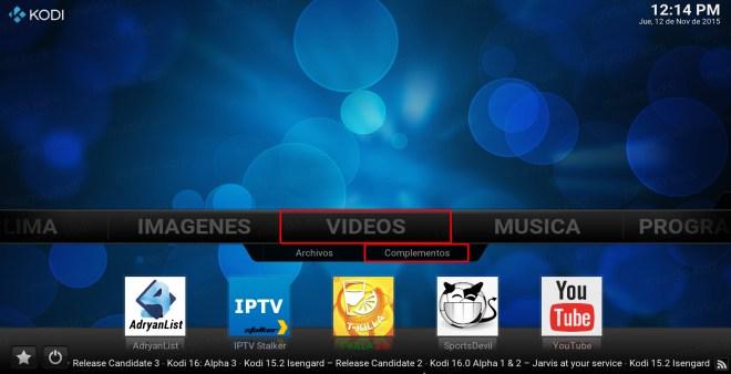 TVUltimate Free en Kodi. video complemento