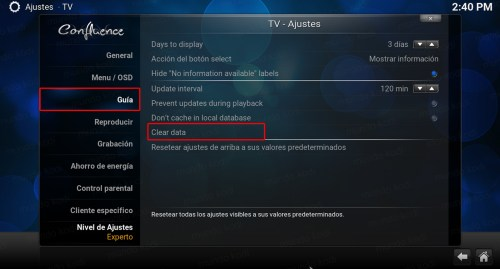 Lista PVR TecnoTV. Guia - clear data