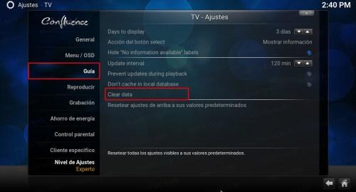 Lista PVR TecnoTV. Guia - clear data