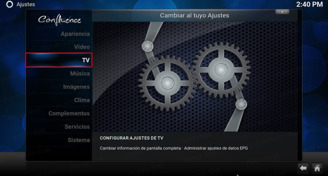 lista play kodi. Menu TV