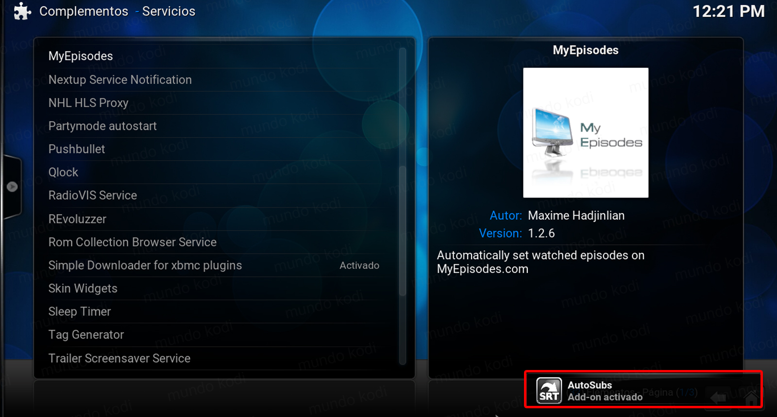 how to add automatic subtitles to kodi with genesis reborn