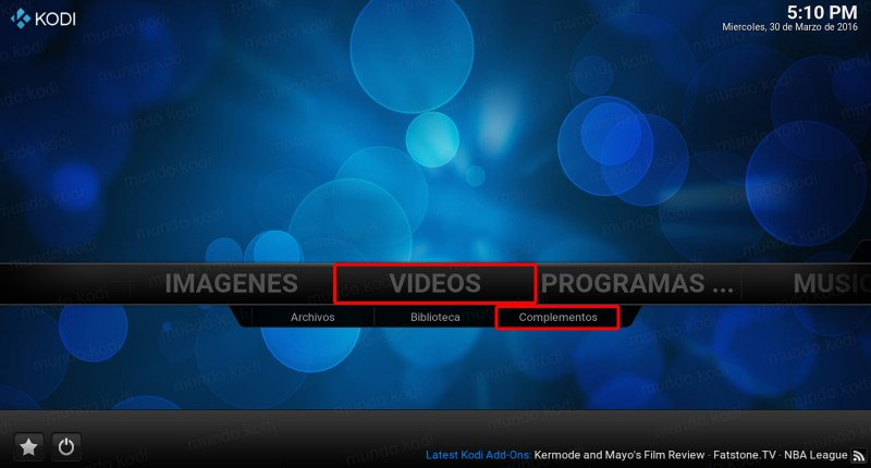 tv time en kodi. video complementos