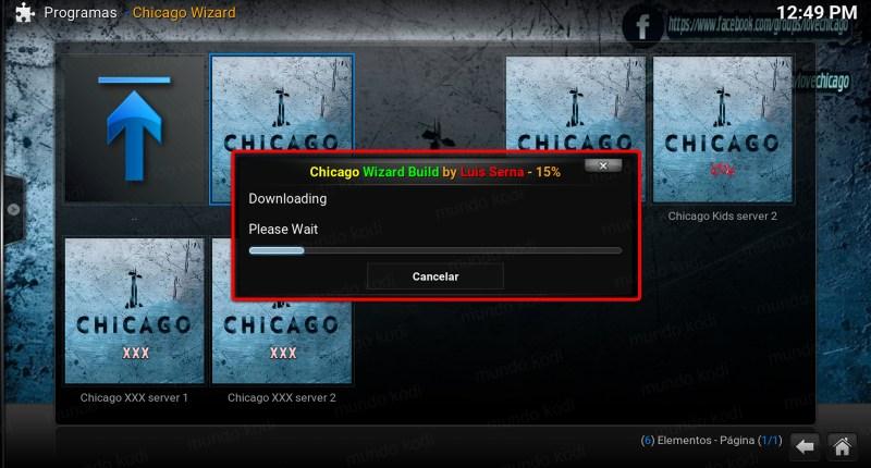 11 descarga del server chicago en kodi