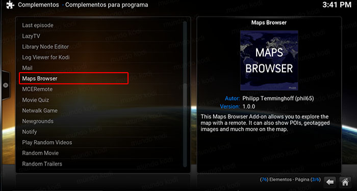 google maps en kodi maps browser