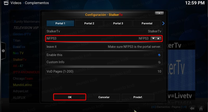 addon stalker tv en kodi servidor 3