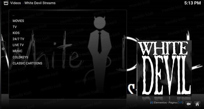 addon white devil streams en kodi lista