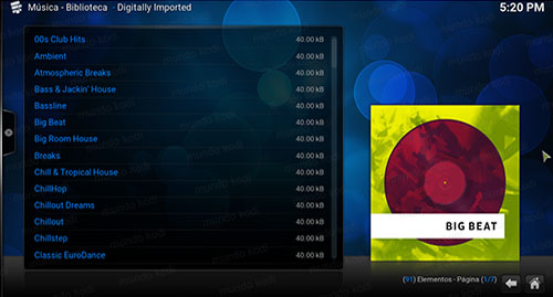 addon digitally imported en kodi lista