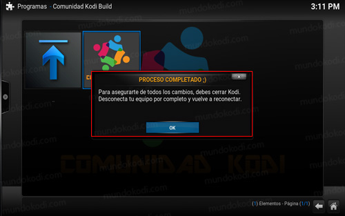 build comunidad kodi