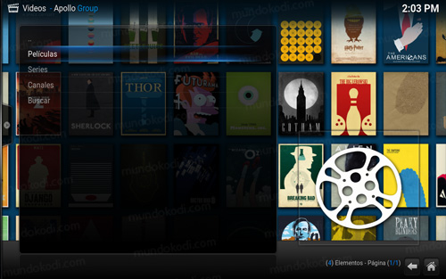 addon apollo group en kodi