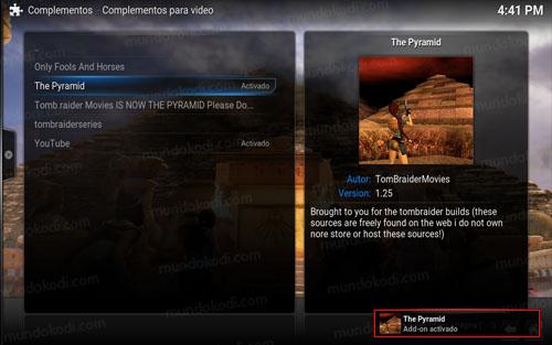 addon the pyramid en kodi