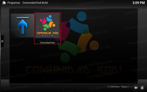 build comunidad kodi