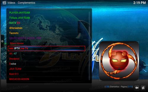 addon 666 iptv live tv en kodi