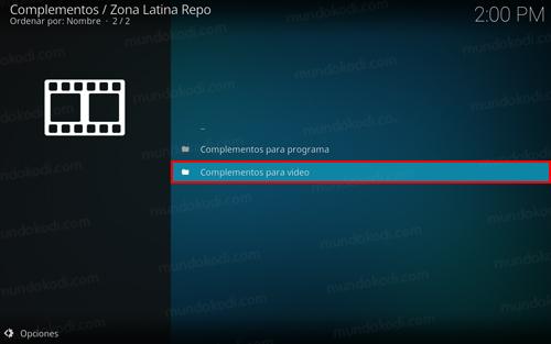 addon zona latina en kodi