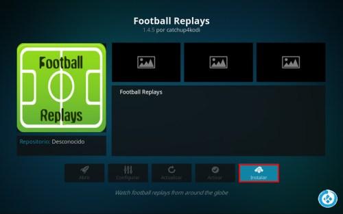 addon football replays en kodi
