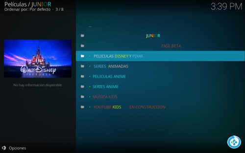 addon junior en kodi
