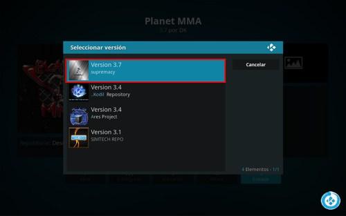 Planet MMA en Kodi