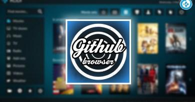 github browser en kodi