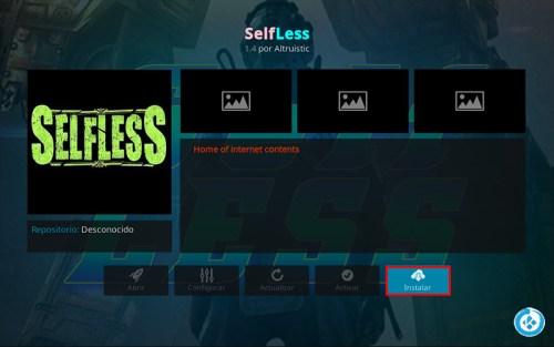addon selfless en kodi