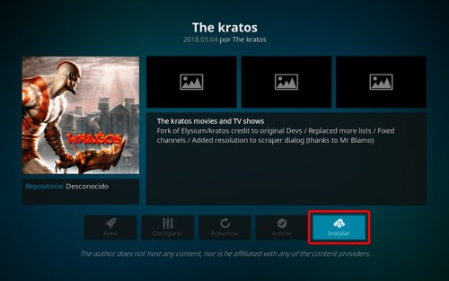 addon the kratos en kodi