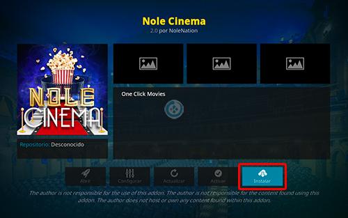 addon nole cinema en kodi