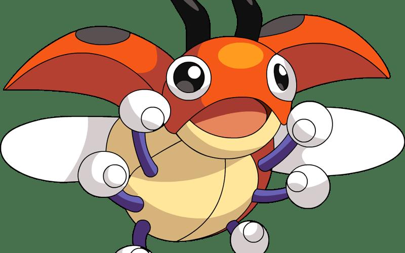 Ledyba el Pokémon mariquita-mundomariquita.com
