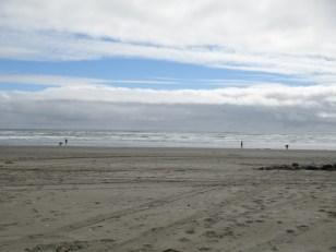 La tranquila playa de Cucao