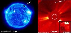 Extraño gran objeto desconocido cerca del sol – 08 de septiembre 2011