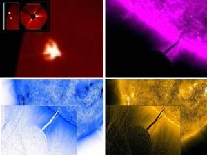 Actividad solar muy intensa: objetos no identificados y Tornado de tamaño enorme – marzo 2012