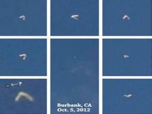 Objeto con forma de búmeran vuela sobre Burbank, California – 05 de octubre 2012