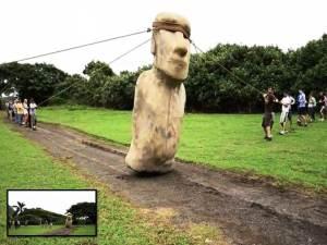 Las estatuas gigantes de la Isla de Pascua 'caminaron'