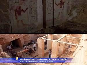 Encuentran un tesoro en la antigua Tumba de una princesa egipcia