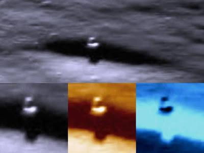Imagen lanzada por la NASA muestra ¿una torre en la luna?