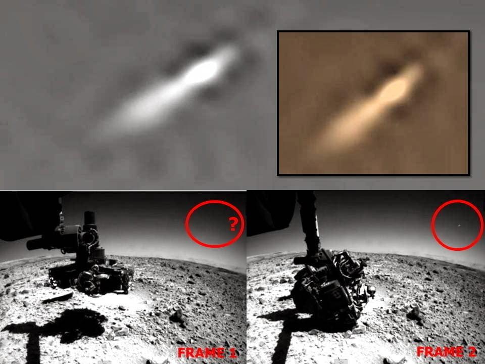 OVNI grabado por la sonda marciana Curiosity