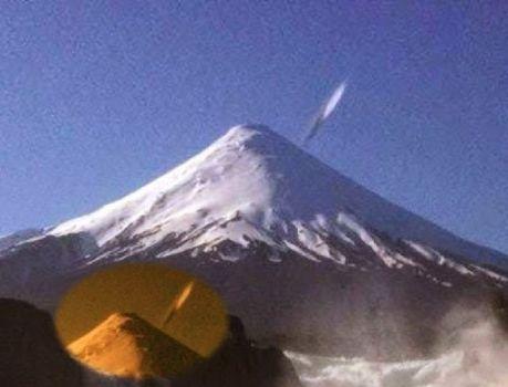 OVNI parece caer en picado en el Volcán Osorno