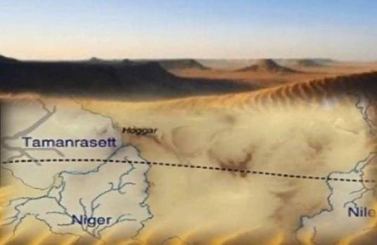 Antiguo sistema de ríos encontrado en el desierto del Sahara