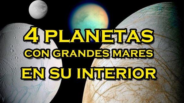 Europa, Dione, Titán y Encélado ocultan mares en su interior